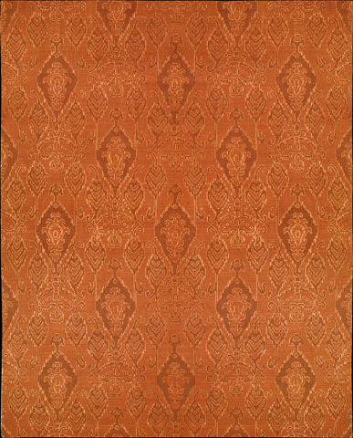Nourison Industries, Inc. - Silk Infusion Dark Rust Rectangular Rug - 99446180070