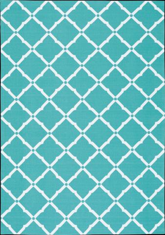 Nourison Industries, Inc. - Home and Garden Aqua Rectangular Rug - 99446208095