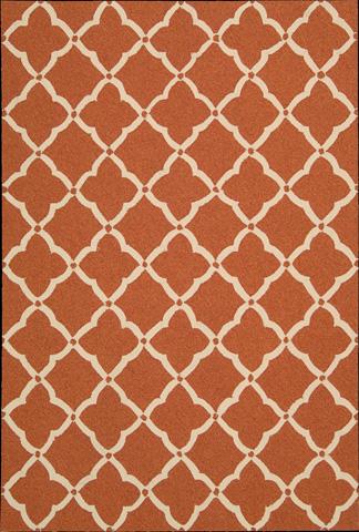 Nourison Industries, Inc. - Orange Rectangle Rug - 99446217257