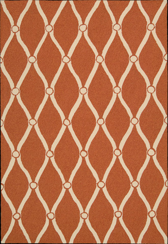 Nourison Industries, Inc. - Orange Rectangle Rug - 99446217516
