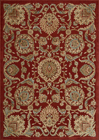Nourison Industries, Inc. - Red Rectangle Rug - 99446221162