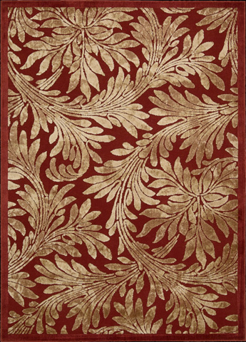 Nourison Industries, Inc. - Red Rectangle Rug - 99446221308