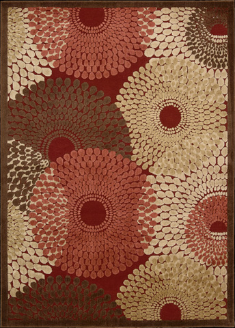Nourison Industries, Inc. - Red Rectangle Rug - 99446221438