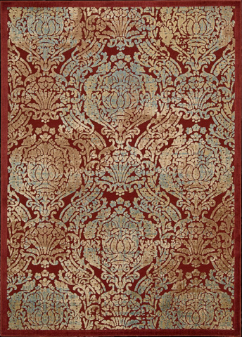 Nourison Industries, Inc. - Red Rectangle Rug - 99446221575