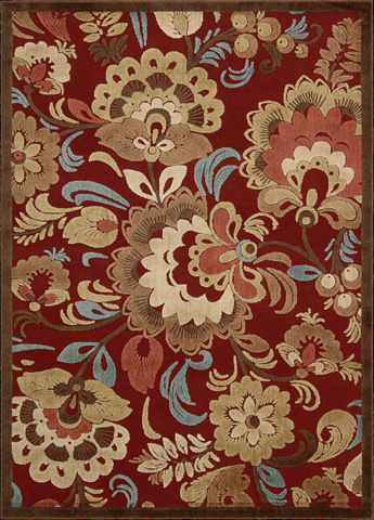 Nourison Industries, Inc. - Red Rectangle Rug - 99446221896