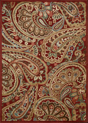 Nourison Industries, Inc. - Red Rectangle Rug - 99446222015