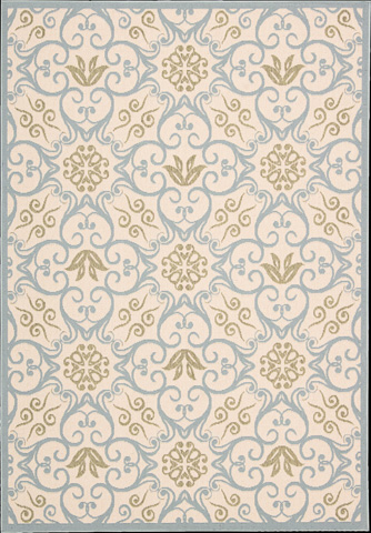 Nourison Industries, Inc. - Ivory Blue Rectangle Rug - 99446239471