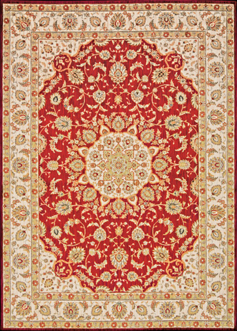 Nourison Industries, Inc. - Red Rectangle Rug - 99446241481