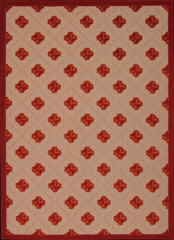 Nourison Industries, Inc. - Red Rectangle Rug - 99446242037
