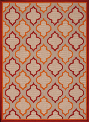 Nourison Industries, Inc. - Red Rectangle Rug - 99446242808