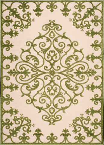 Nourison Industries, Inc. - Green Rectangle Rug - 99446242891