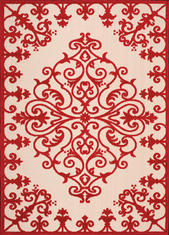 Nourison Industries, Inc. - Red Rectangle Rug - 99446243010
