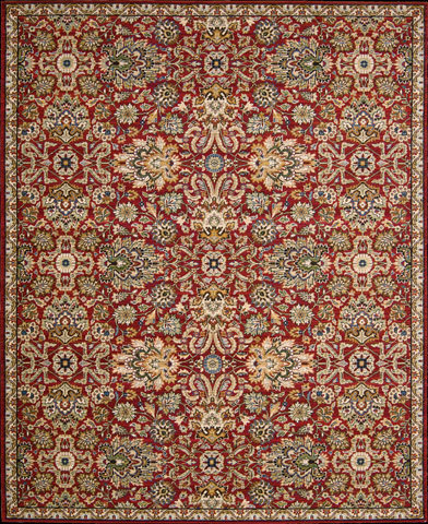 Nourison Industries, Inc. - Red Rectangle Rug - 99446274243