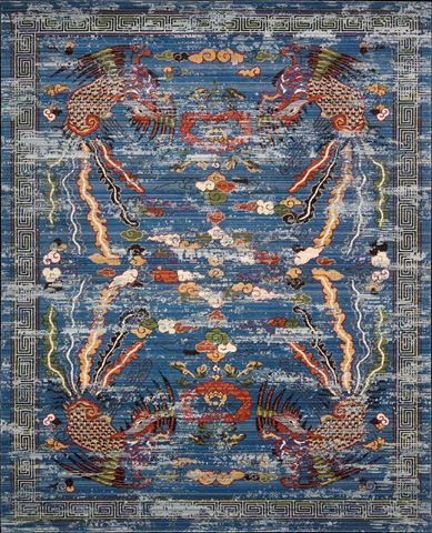 Image of Dynasty Midnight Rectangular Rug
