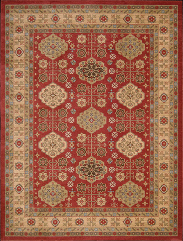Nourison Industries, Inc. - Red Rectangle Rug - 99446281166