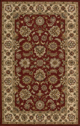 Nourison Industries, Inc. - Red Rectangle Rug - 99446414489