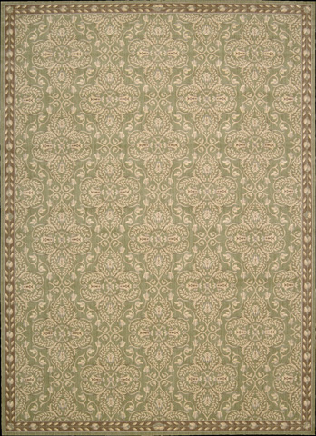 Nourison Industries, Inc. - Green Rectangle Rug - 99446417183