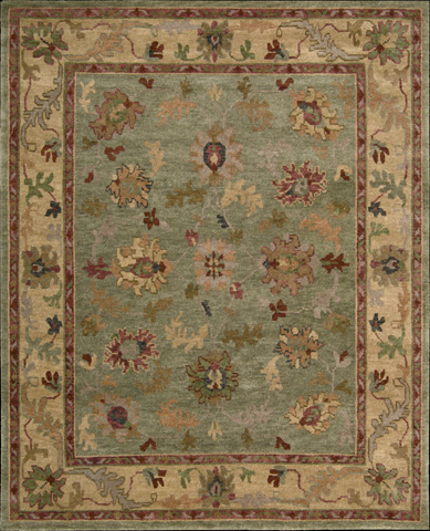 Nourison Industries, Inc. - Green Rectangle Rug - 99446623515