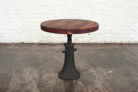 Nuevo - Round Reclaimed Hardwood Side Table - HGDA219