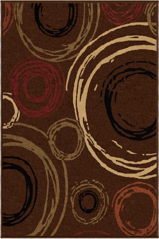 Image of Nuance Centric Rug in Brown