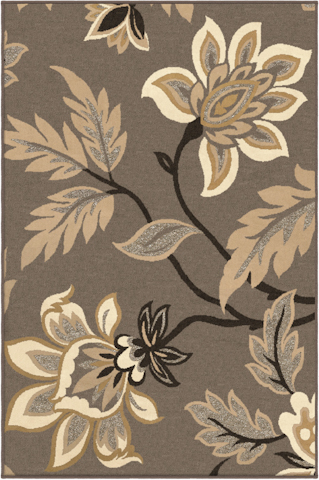 Image of Nuance Lily Rug in Taupe