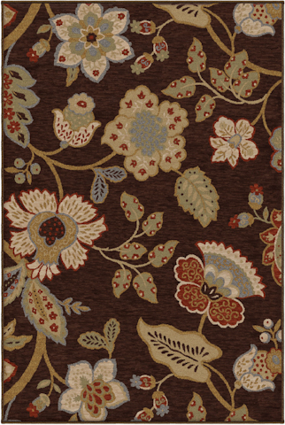Image of Harmony Layla Rug in Brown