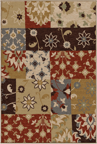 Image of Harmony Eclectic Patchwork Rug in Multi