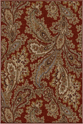 Orian Rugs - Harmony Corina Paisley Rug in Cinnabar - 2215