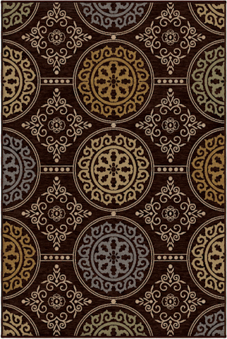 Image of Harmony Mazarin Rug in Brown