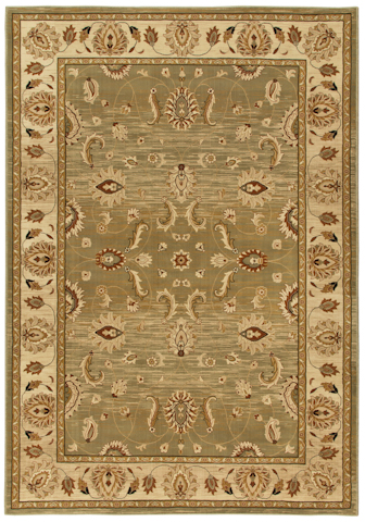 Image of American Heirloom Mahal Rug in Green Tea