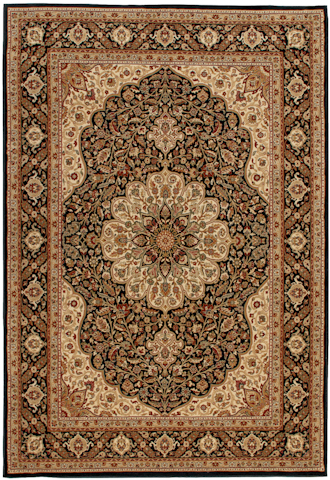 Image of American Heirloom Osteen Rug in Black