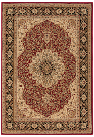 Image of American Heirloom Osteen Rug in Claret