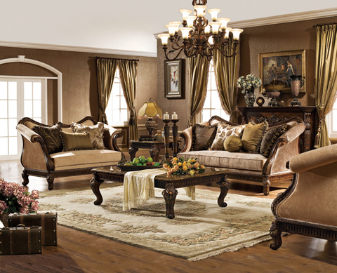 Image of Upholstered Sofa with Accent Pillows