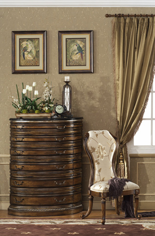 Image of Paris Six Drawer Chest with Granite Top