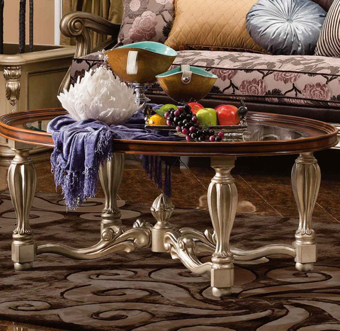 Image of Vienna Coffee Table with Glass Top