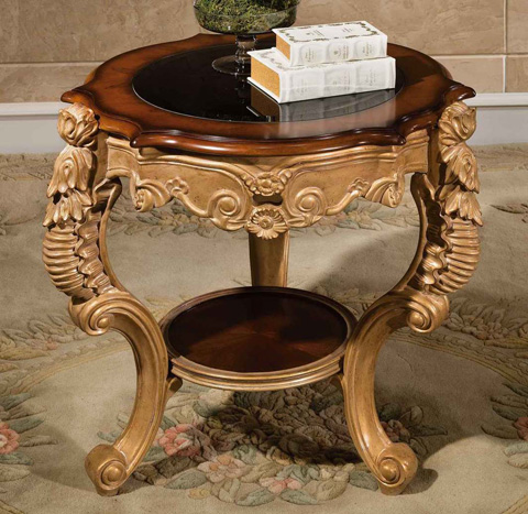 Image of Medici End Table with Glass Top