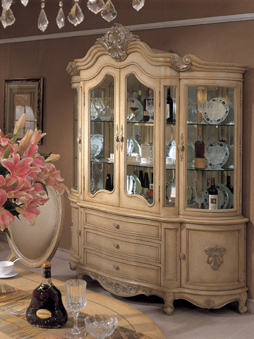 Image of Chardonnay Demilune China Cabinet