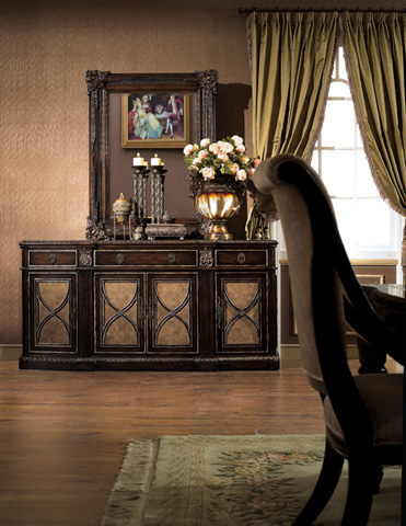 Image of Le Palais Credenza with Marble Inlay