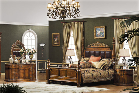 Orleans International - Monaco Bed in King - 1079-001E