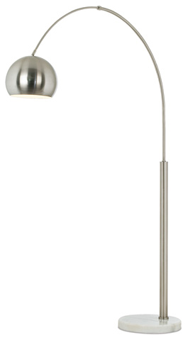 Image of Basque Arc Floor Lamp in Nickel