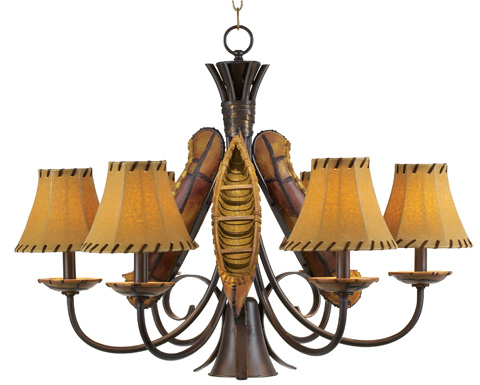 Pacific Coast Lighting - Old River Canoe Chandelier - Large - 84-7858-R9