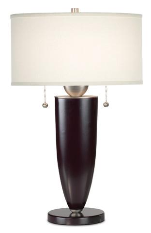 Pacific Coast Lighting - Deco Steel and Wood Mahogany Table Lamp - 87-179-94