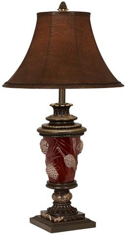 Pacific Coast Lighting - Pine Cone Glow Table Lamp - 87-262-G7