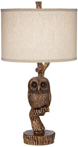 Pacific Coast Lighting - Night Owl Table Lamp - 87-7542C-9F