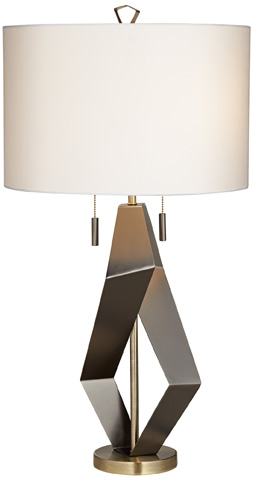 Pacific Coast Lighting - Black Quadrant Table Lamp - 87-7736-07