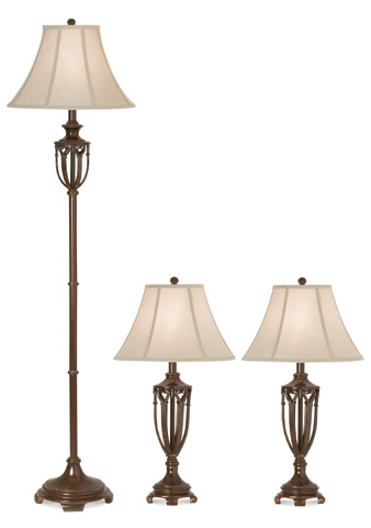Pacific Coast Lighting - The Estate Collection Lamps-Set of 3 - 87-1610-25