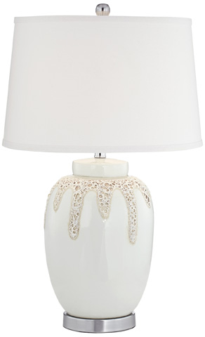 Pacific Coast Lighting - White Hot Lava Table Lamp - 87-8376-48
