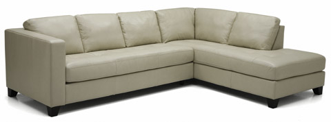 Image of Jura Leather Sectional with Chaise