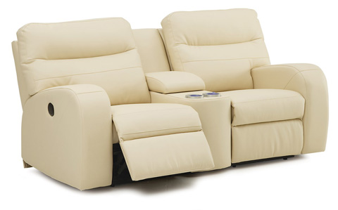 Palliser Furniture - Console Loveseat with Cup Holder - 46030-68