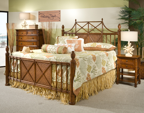 Palmetto Home - Island Breeze Bamboo Bedroom Set - 103 SET